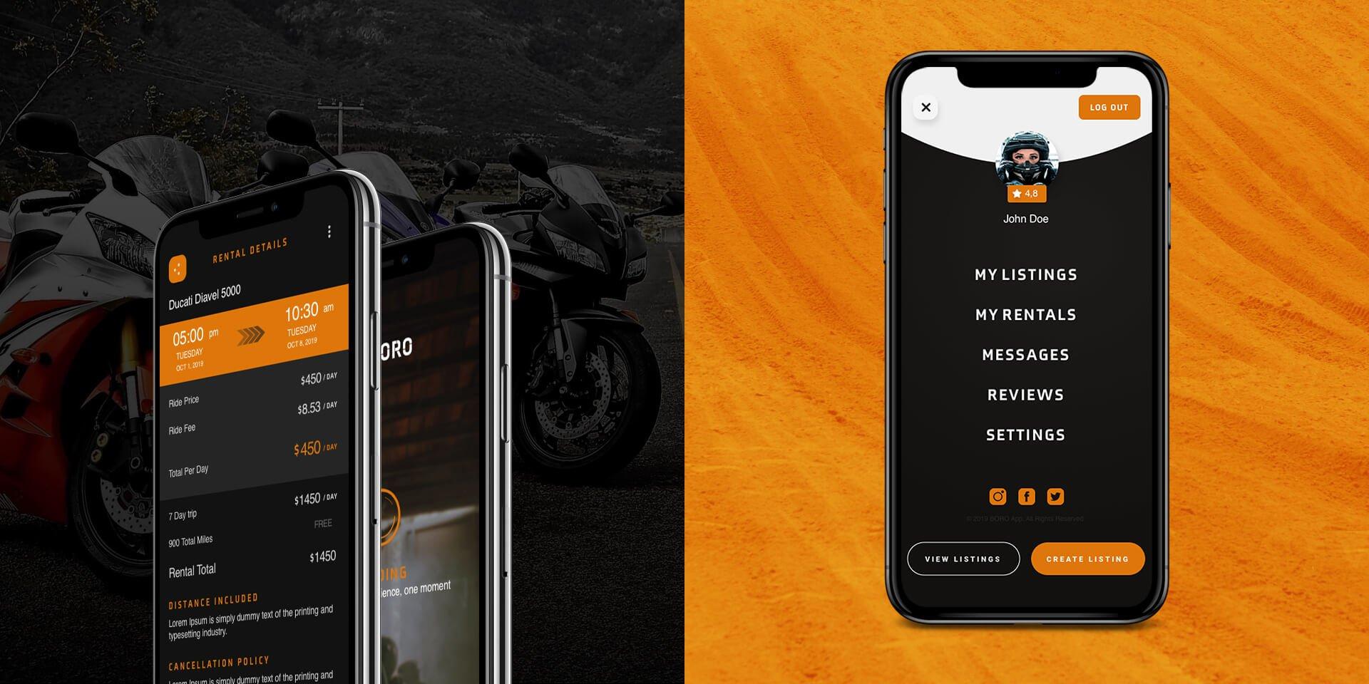 BORO Motorcycle Rental App